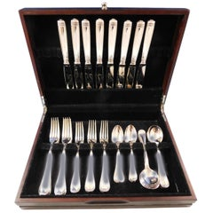 Malmaison by Christofle Silver Plate Flatware Service Set 40 Pieces, France