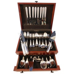 Malmaison by Christofle Silverplate Flatware Service for 8 Set 65 Pieces Dinner