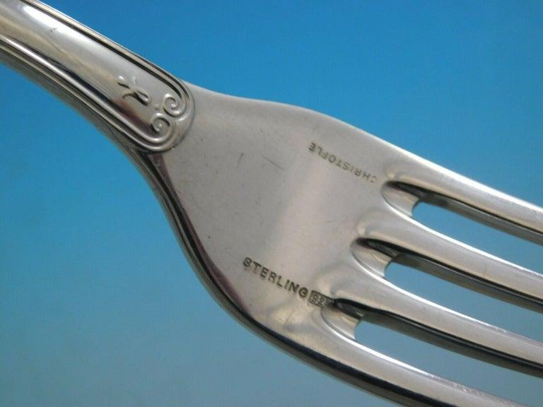 Malmaison by Christofle Sterling Silver Flatware Service for 8 Set 68 Pcs Dinner For Sale 2