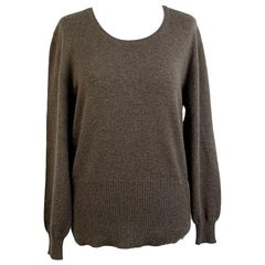 Malo Brown Cashmere Knit Jumper Sweater Size 46