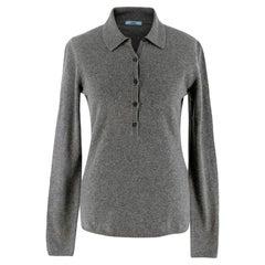 Malo Grey Cashmere Polo Jumper - Size US 6