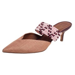 Malone Souliers Beige/Pink Canvas Maisie Sandals Size 38.5