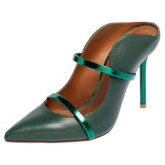 Malone Souliers Green Leather Maureen Pumps Size 36