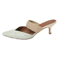 Malone Souliers Multicolor Woven Raffia Maisie Sandals Size 36