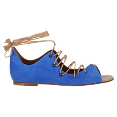 Malone Souliers  Women   Sandals  Camel Color, Navy Leather EU 37.5