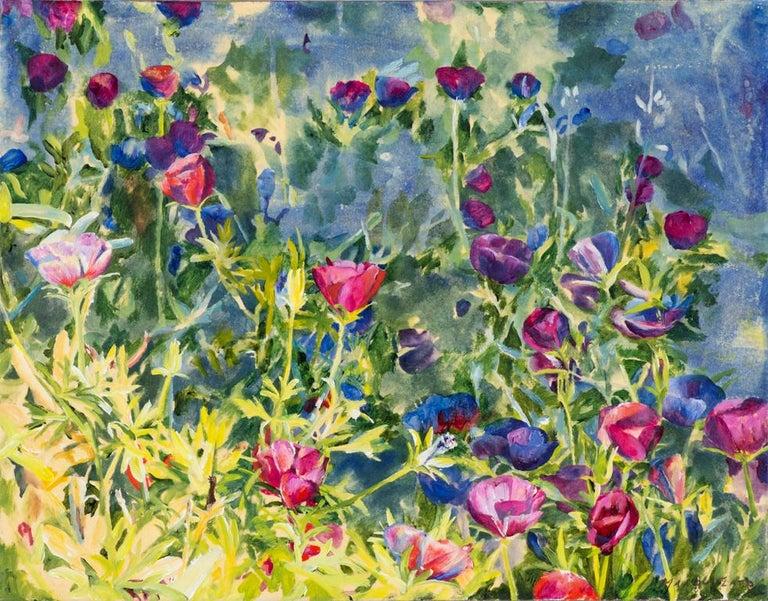 Malou Flato Landscape Painting - Wine Cups
