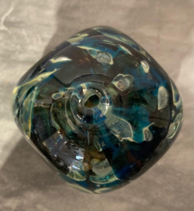 Maltese Studio Glass Square Vase In Good Condition In Bridgeport, CT