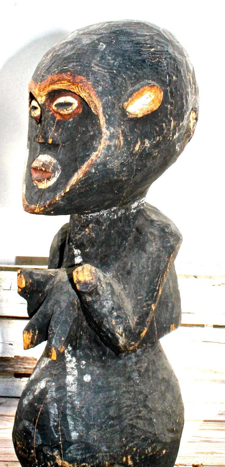 Modern Mambila Large Female Figure African Sculpture For Sale