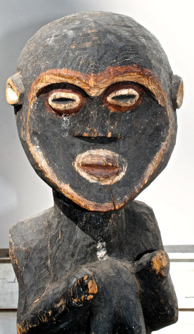 Cameroonian Mambila Large Female Figure African Sculpture For Sale