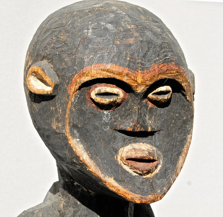 20th Century Mambila Large Female Figure African Sculpture For Sale