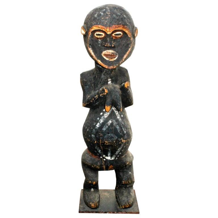 Mambila Large Female Figure African Sculpture For Sale