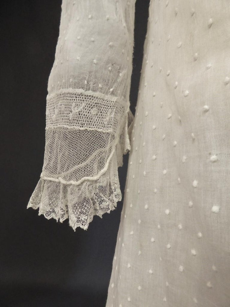 Mameluck Dress in Muslin and Embroidered Veil - First French Empire Circa 1810 For Sale 8