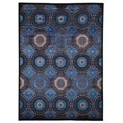 Mamluk Design Art Silk with Oxidized Wool Hand Knotted Oriental Rug