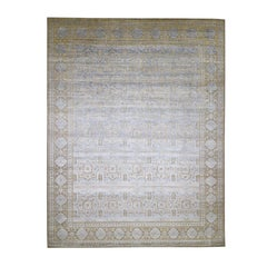 Mamluk, Silk with Oxidized Wool Hand Knotted Oversized Oriental Rug