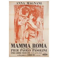 """""""Mamma Roma"""" 1962 Italian Due Fogli Film Poster"""