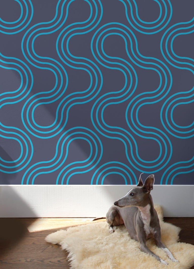 This oversized sexy 1960s geometric adds mod flair to your space.  Samples are available for $18 including US shipping, please message us to purchase.   Printing: Screen-printed by hand (must be ordered in even increments). Material: FSC-certified