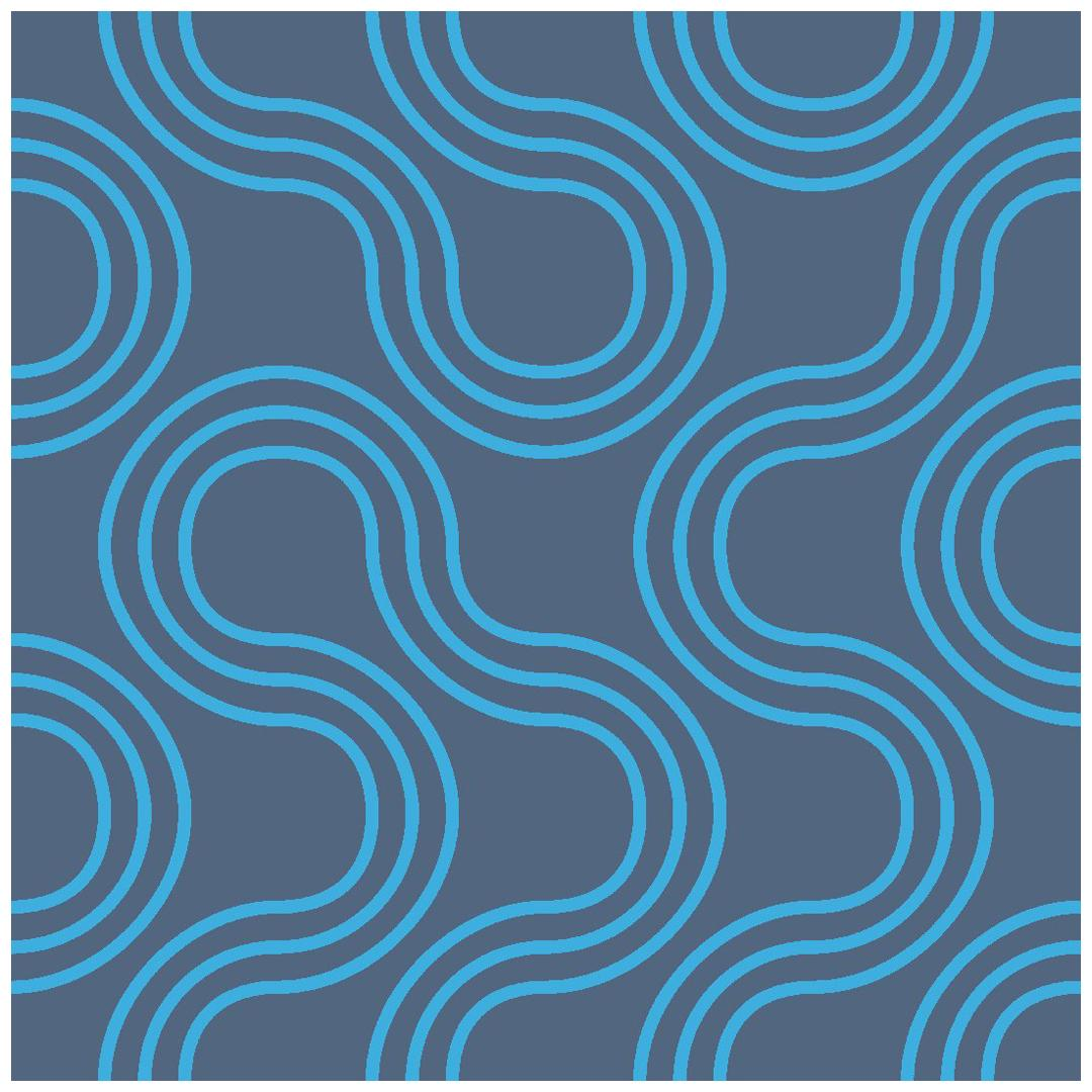 Mamma Screen Printed Wallpaper in Azulado 'Bright Turquoise on Navy Blue'