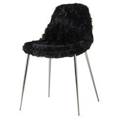 Mammamia Black Fur Chair