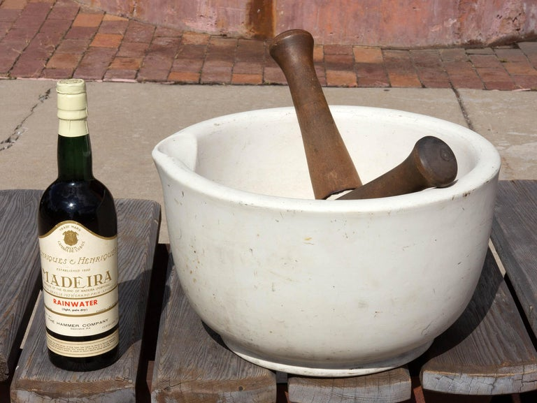 European Mammoth Apothecary Mortar and Pestle For Sale