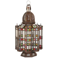 Mamounia Moorish Glass Lantern