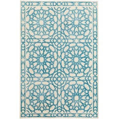 Mamounia Sky 6x4 Rug Hand-Knotted in Wool and Silk by Martyn Lawrence-Bullard