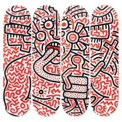 Man and Medusa Skateboard Set by Keith Haring