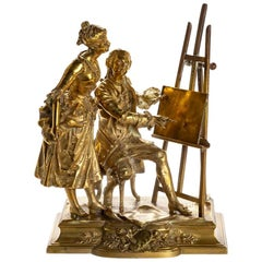 Man and Woman by Easel