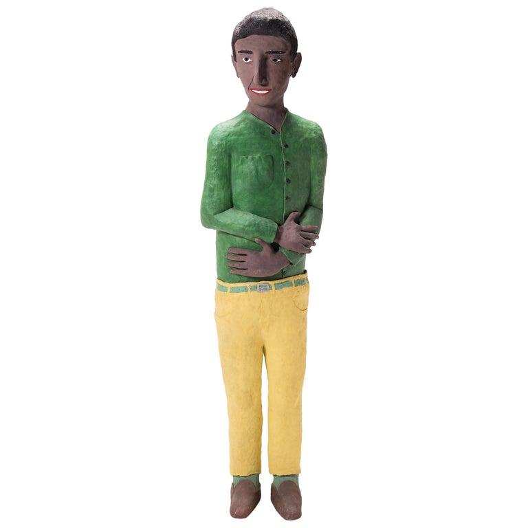 """""""Man in Green Shirt"""" by Allan Winkler For Sale"""