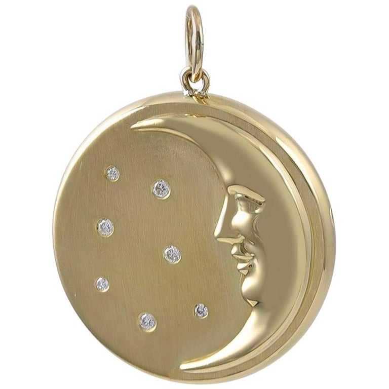 efc630bcf61ee Man-in-the-Moon Gold and Diamond Pendant