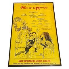 """Man of La Mancha"" Broadway Poster, Anta Washington Square Theatre, 1977"