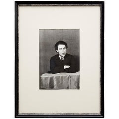 Man Ray Black and White Portrait Photography of André Breton