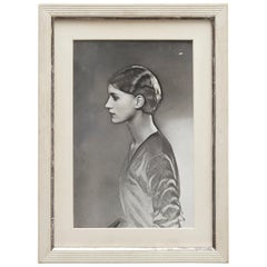 Man Ray Black and White Solarized Framed Photography of Lee Miller