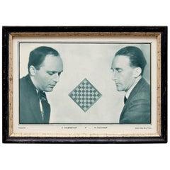 Man Ray Le Monde des Echecs Photography of Marcel Duchamp