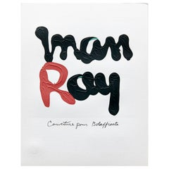 "Man Ray Limited Edition Red and Black Photolithography ""R"", circa 1970"