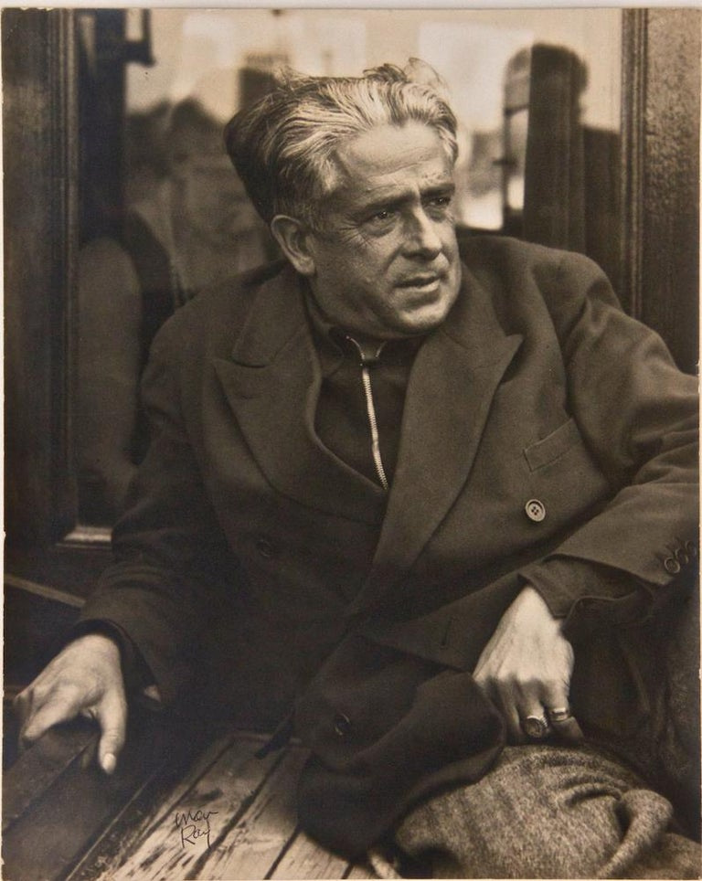 Original Vintage hand signed Photograph, 1935.  Dimensions : 27x22 cm.  This wonderful photograph by Man Ray shows an intense portrait of Francis Picabia, French painter, poet and leading figure of the Dada movement.  Exhibited during the Picabia