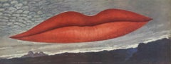 1966 Man Ray 'Lips (No Text)' Pop Art Red,Gray,Brown USA Offset Lithograph