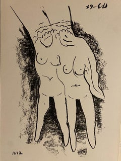 Double Copy - Original Lithograph by Man Ray - 1964