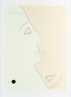 Double Face - Original Lithograph by Man Ray - 1971