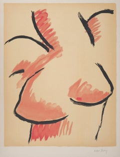 Female Bust - Handsigned Original Lithograph