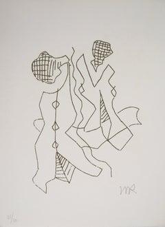 Friendship, Eve, 1969 - Original Handsigned Etching, Numbered /50