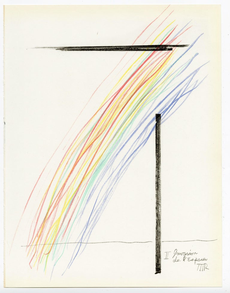 Man Ray Abstract Print - Invasion de l'Espace and T'ou't se tient