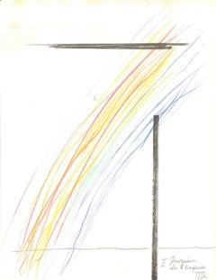 Invasion de l'espace - Original Lithograph by Man Ray - 1975