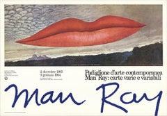 """Man Ray--A L'Heure de L'Observatoire-Les Amoureux-26.75"""" x 38.5""""-Poster-1983"""