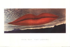 """Man Ray--The Lovers-26.5"""" x 39.25""""-Poster-Surrealism-Multicolor, Red, Black"""