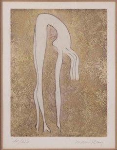 Nude - Original Lithograph by Man Ray - 1969