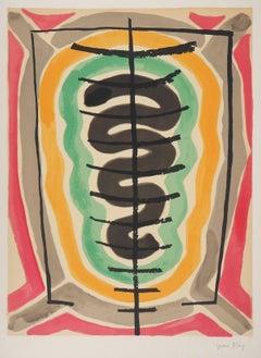 Surrealist Composition - Handsigned Original Lithograph