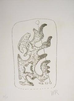 Surrealist Figure, Dorothée, 1969 - Original Handsigned Etching