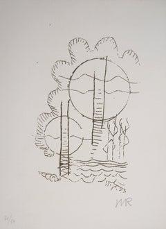 Surrealist Flowers, Hélène, 1969 - Original Handsigned Etching