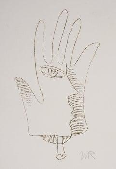 Surrealist Hand, 1969 - Original Handsigned Etching