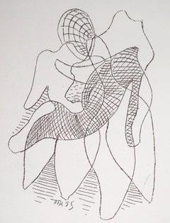Surrealist Storm, Germaine, 1969 - Original Signed Heliogravure